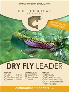 Click to view Cutthroat Dry Fly Leader!